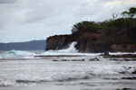 Waves breaking on the ocean-side coastline of Peucang Island [java_0075]