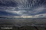 Sunset on the ocean-side coastline of Peucang Island [java_0079]