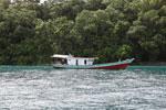 Boat off Peucang Island [java_0411]