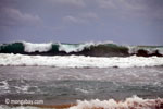 Indian Ocean waves breaking on the Western-most part of Java [java_0813]