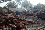 Teak logs outside an Indonesian sawmill