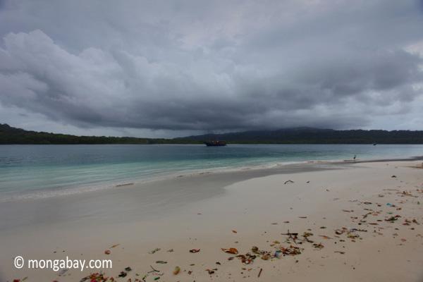 Ship off Peucang Island