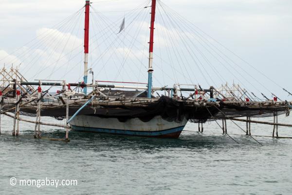 A fishing boat off the coast of Java. Photo: Rhett A. Butler