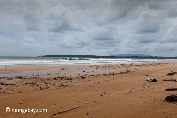 Waves breaking on a beach in Ujung Kulon [java_0320]
