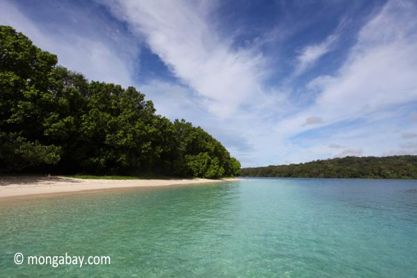 Peucang Island beach [java_0473]