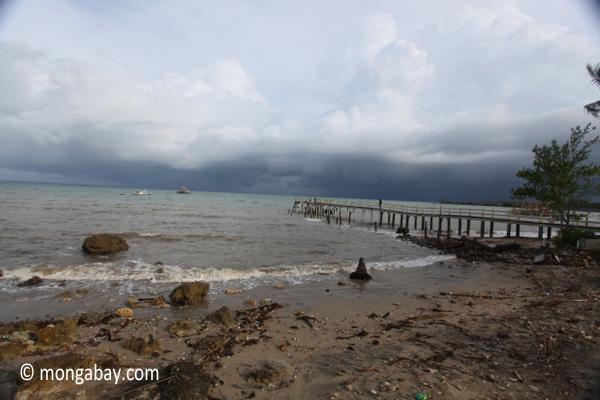 Dock and beach near Sunur [java_0845]