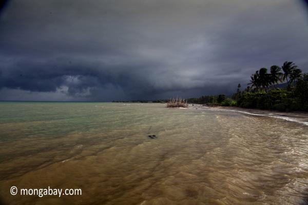 Coastline near the village of Sunur, West Java