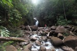 Riam Berasap waterfall in Gunung Palung National Park [kalbar_0777]