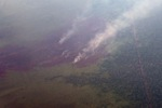 Aerial vew of burning peatlands in Indonesia's West Kalimantan province [kalbar_1200]