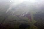 Aerial vew of burning peatlands in Indonesia's West Kalimantan province [kalbar_1197]