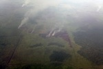 Aerial vew of burning peatlands in Indonesia's West Kalimantan province [kalbar_1201]