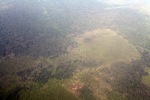 Airplane vew of cleared peatlands in Indonesia's West Kalimantan province [kalbar_1217]