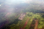 Airplane vew of cleared peatlands in Indonesia's West Kalimantan province [kalbar_1224]