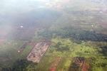 Airplane vew of cleared peatlands in Indonesia's West Kalimantan province [kalbar_1225]