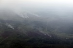Aerial vew of burning peatlands and forest in Indonesian Borneo [kalbar_1254]