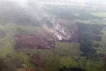 Aerial vew of burning peatlands and forest in Indonesian Borneo [kalbar_1258]