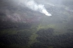 Aerial view of peat fires in Borneo [kalbar_2350]