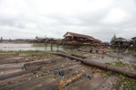 Timber market in Banjarmasin
