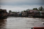 Banjarmasin seen from the river