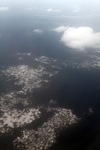Aerial view of mining damage in Central Kalimantan