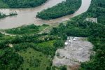Edge of frontier town, Coca, in the Ecuadorian Amazon on the Napo River