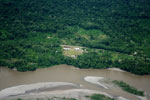 Settlement and deforestation along Napo River in Ecuadorian Amazon