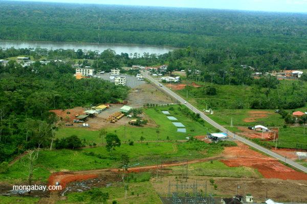 Outskirts of frontier town, Coca, in the Ecuadorian Amazon