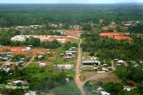 Outskirts of frontier town, Coca, in the Ecuadorian Amazon