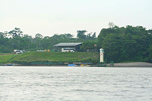 Control post for Yasuni National Park in the Ecuadorian Amazon