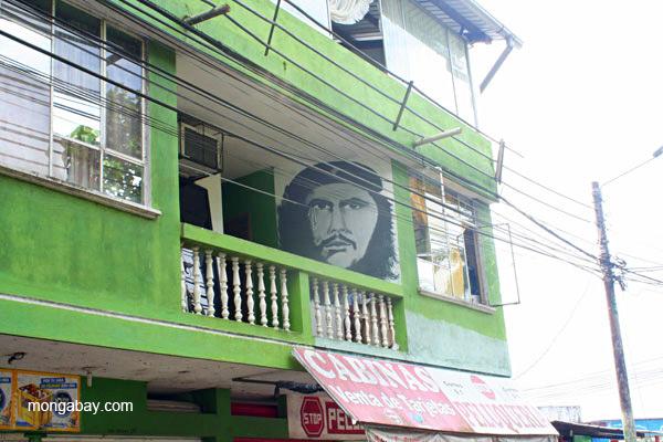 Che Guevera portrait in the frontier town of Coca in the Ecuadorian Amazon