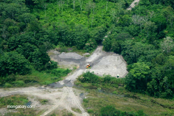 Deforestation in the Ecuadorian Amazon. An average of nearly 1.5 million hectares (5,790 square miles) of Amazonian forest was cut down every year between 2001 and 2012. Corporate zero-deforestation commitments could help slow that trend. Photo credit: Jeremy Hance.