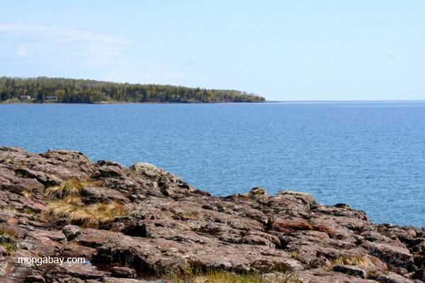 Lake Superior shoreline in Minnesota