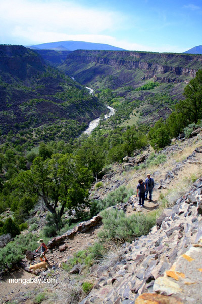 Hiking down to the Rio Grande in the Orilla Verde Recreation Area in northern New Mexico
