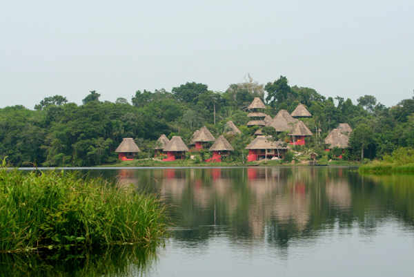 Napo Wildlife Center on Anangucocha lake in Yasuni National Park in the Ecuadorian Amazon