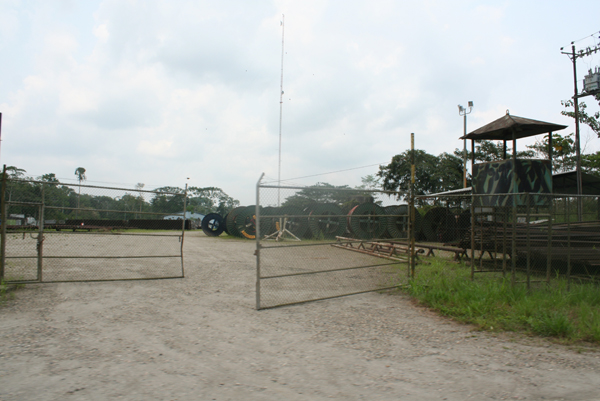 Oil industry infrastructure in Yasuni National Park in the Ecuadorian Amazon