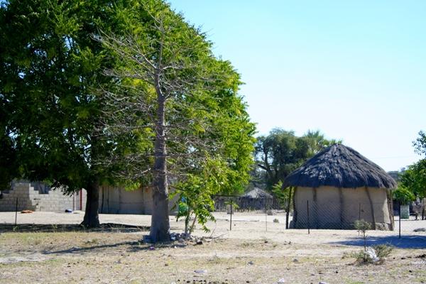 Traditional homes in Botswana