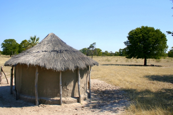 Traditional homes in Botswana