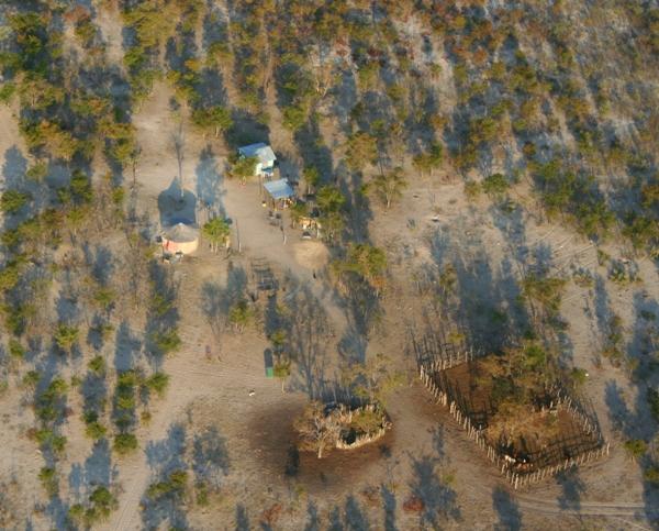 Settlement near Okavango delta