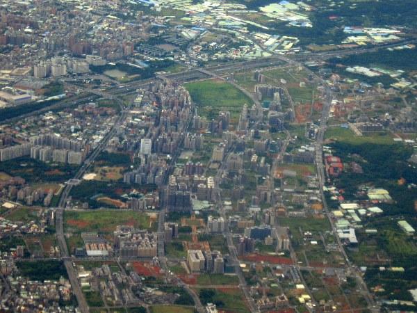 Aerial view of Taipei, Taiwan