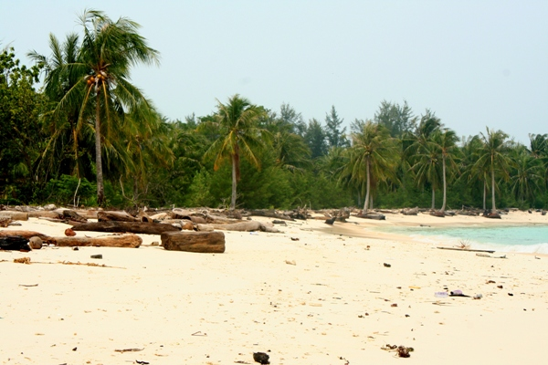 Beach of Mantanani Island