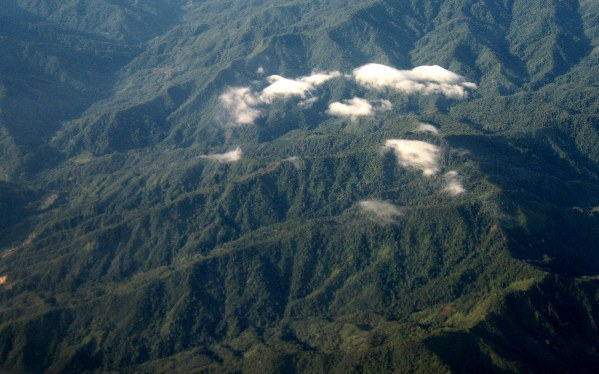 Aerial view of rainforests in Sabah, Malaysia