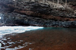 Red sand beach near Hana
