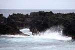 Waves crashing on lava at Wainapanapa State Park