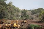 Bulldozers, tractors, and other earth-moving vehicles in the rainforest [panama_0069]