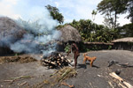 Dani man roasting hog [papua_0522]