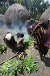Tribal Dani women cooking sweet potato [papua_0598]