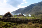 Smoke rising from a Dani village [papua_0734]