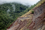 Landslide on a deforested hillside near Jayapura