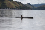 Man canoeing in Lake Sentani [papua_0849]