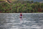 Woman in a canoe on Lake Sentani